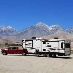 "On our way to Mammoth... look at that beast. We LOVE our new ""house"" June 2018"