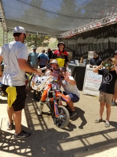 Ries and Uncle Korey - Mammoth June 2018 (after the 2nd holeshot!