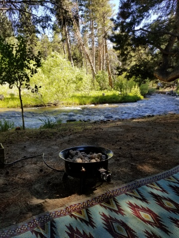 view of our 1st camping spot at Campe Azuza, Lee Vining, CA June 2018