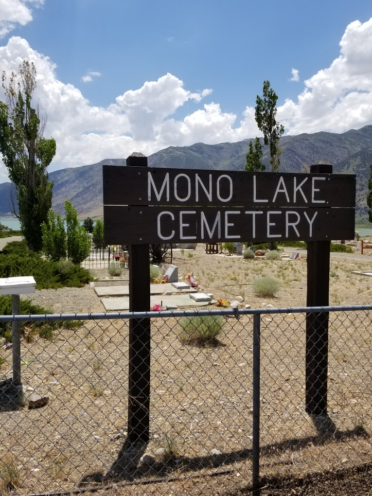 mono lake cemetary sign