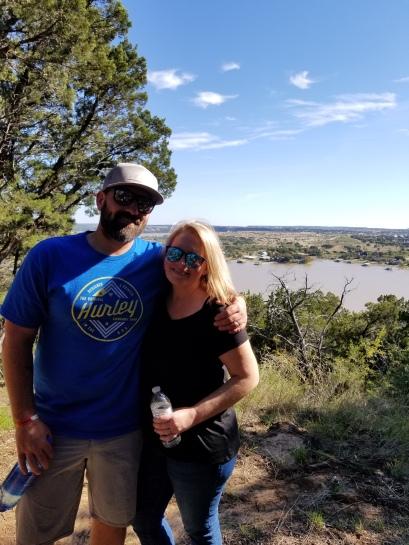 korey and michelle possum kingdom lake hike