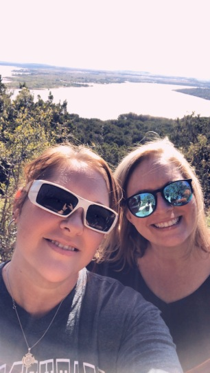 michelle and gayla possum kingdom lake hike