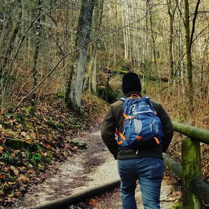 Korey on the trail