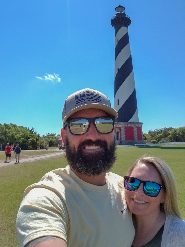 us at hatteras ligthouse